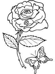 Free Rose Coloring Pages For Adults Flower Page Printable Roses Kids Print Carissa Art