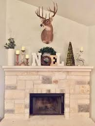 Christmas Mantle Decorations With A Deer Mount