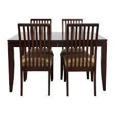 Macys Dining Room Sets by 83 Off Maple Dining Table With Four Matching Chairs Tables