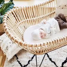 luxus rattan babybett juno