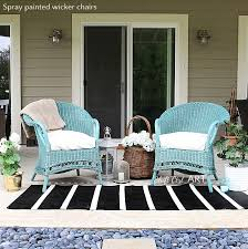 Fresh Painting Wicker Furniture With Chalk Paint