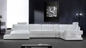 photos canapé d angle cuir blanc italien