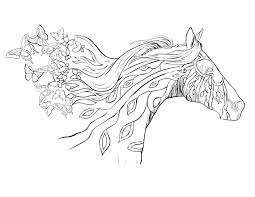 Horse Coloring Page Free Download Throughout Pages For Adults