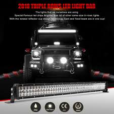 Details About 52Inch 3315W LED Light Bar Spot Flood 3 Row For Jeep Truck  Lumileds VS 50