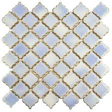 Home Depot Merola Lantern Ceramic Tile by Merola Tile Hudson Tangier Frost Blue 12 3 8 In X 12 1 2 In X 5