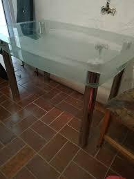 disigner glastisch esszimmer 6 stühle