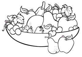 fruit basket coloring pages for kids clipart