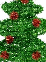 Christmas Tree Tinsel Icicles by Metallic Tinsel Christmas Tree Hanging Decoration 52cm