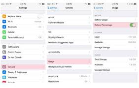 How to change settings to display iPhone battery percentage