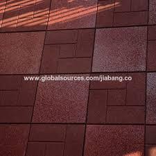 Slip Resistance Gym Rubber Floor Tile China