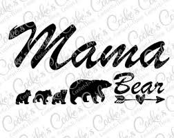 Mama Bear With Cubs Svg