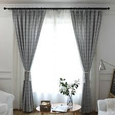 minimalismus vorhang grau kleine raute jacquard im wohnzimmer
