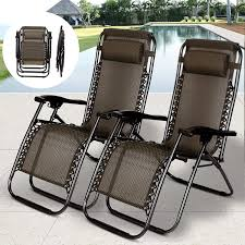 Amazon.com : 2 PCS Zero Gravity Folding Lounge Beach Chairs ... Teak Patio Chair Fniture Home And Garden Fniture High The Weatherproof Outdoor Recliner Amya Contemporary Chair With Plush Cushion By Of America At Rooms For Less Hondoras In Bay Cream Klaussner Delray W8502 Cdr Gci Freestyle Rocker Mesh Flamaker Folding Patio Rattan Foldable Pe Wicker Space Saving Camping Ding Bungalow Rose Spivey Reviews Walmartcom Breeze Lounge