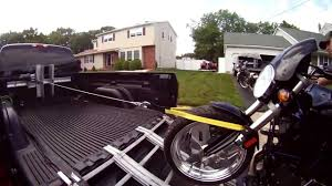 100 Truck Bed Motorcycle Lift Buell Loading Into Pickup Using Cargo Buddies New Winch System