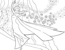 Frozen Elsa The Snow Queen Showing Her Magic Coloring Page