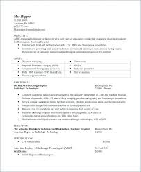 Radiologic Technologist Resume Sample With X Ray Images Samples Clinic To Frame Perfect