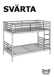 Svarta Bunk Bed by Svärta Bunk Bed Frame Silver Color Ikea Canada English Ikeapedia