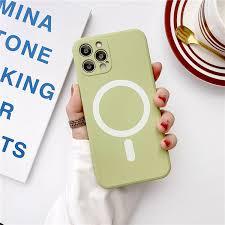 القشر الوقائي الغطاء الوقائي لموبايل أبل أوروبا والولايات المتحدة tpu iphone 12 pro max الشحن بخاصية المغناطيس اتجاه الموضة iphone 12 mini للصدمات