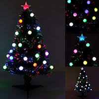 3ft Pre Lit Blossom Christmas Tree by 3ft Pre Lit Colour Fibre Optic Christmas Tree 20 Slow Flash Led