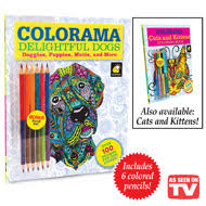 Colorama Delightful Dogs Coloring Book