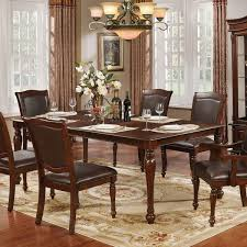 Furniture Of America Renoir Traditional Brown Cherry Wood 84 Inch Dining Table With Leaf