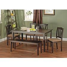 Metropolitan Brown/Espresso 6-Piece Dining Set With Table, Bench And 4  Chairs For Dining Room, Kitchen Or Nook For Meals, Dinner, Supper, Lunch Or  ... Modern Ding Room And Kitchen Interior With White Marble Table Eight Chairs In A Loftstyle Farmhouse Ding Room Diy Shiplap Kitchen Mesas De Small 14 Ways To Make It Work Doubleduty Bob Vila Toaster Vintage Costway 5 Piece Set Glass Metal Table 4 Chairs Breakfast Fniture Poly Bark Vortex Chair Walnut Legs Of Fixer Upper Style Rustic Italian Refresh House Becomes Home Interiors Sobuy Fst59 Hg Office 2pieces Lot European Gold Stool Leg Stainless Steel Round Duhome Elegant Lifestyle Velvet Pink Vanity Accent Upholstered Makeup Plating For