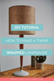 A Fall Inspired Jute Twine Wrapped DIY Lampshade