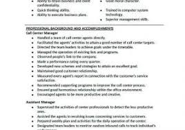 Customer Service Call Center Resume Awesome Manager Samples 20 Template Operations Of
