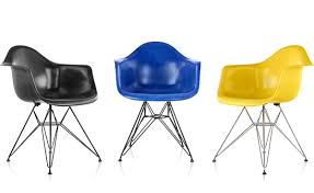 Eames® Molded Fiberglass Armchair With Wire Base - Hivemodern.com Eames Molded Plastic Armchair Wire Base Herman Miller Fiberglass Armchairs Office Molded Plastic Chairs Peugennet Style Mid Century Modern Shell Arm Upholstered Hmanmiller Dowel The Chair Photo Home Ideas Collection Side Block Club Headquarters Buffalo Quiet Nook Birch Plywood