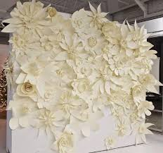 Paper Flowers Ceremony Backdrop Ideas Weddingfor1000