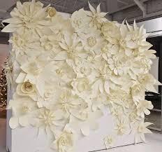 Paper Flowers Ceremony Backdrop Ideas Weddingfor1000