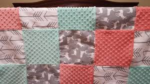 baby crib bedding white gray arrows gray deer coral and