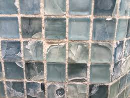 problem with glass mosaic water line pool tile