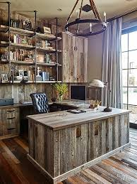 An All Wood Home Office Brings Barnyard Inspired Chic To The Next Level