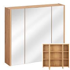 badezimmer spiegelschrank 80 cm matera 56 in artisan eiche nb 80 72
