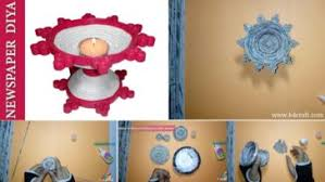 How To Make Newspaper Candle Holder Stand At Home Step By