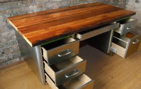reclaimed wood desk top diy wooden global