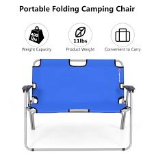Costway 2 Person Folding Camping Bench Portable Loveseat Double Chair  Outdoor Blue Cheapest Useful Beach Canvas Director Chair For Camping Buy Two Personfolding Chairaldi Product On Outdoor Sports Padded Folding Loveseat Couple 2 Person Best Chairs Of 2019 Switchback Travel Amazoncom Fdinspiration Blue 2person Seat Catamarca Arm Xl Black Choice Products Double Wide Mesh Zero Gravity With Cup Holders Tan Peak Twin 14 Camping Chairs Fniture The Home Depot Two 25 Ideas For Sale Free Oz Delivery Snowys Glaaa1357 Newspaper Vango Hampton Dlx