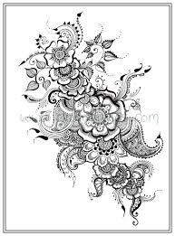 Adult Colouring In PDF Download Cat Henna Zen Mandalas Flower