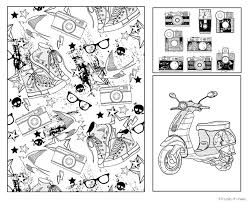 Wonderful Looking Hipster Coloring Book The Picture