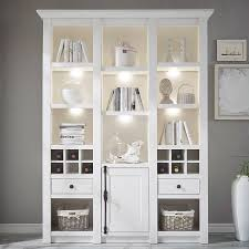 wohnzimmer bücherregal wingst 61 im landhaus stil dekor pinie weiß nb