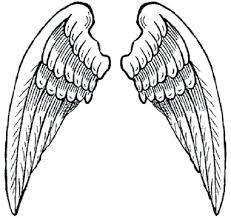 Angel Wings Coloring Pages Heart With Sheets