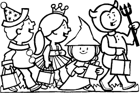 Halloween Coloring Pages For Kids FREE Printables Costumes Trick Or Treat
