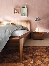 schlafzimmer mit möbeln aus naturholz schöner wohnen