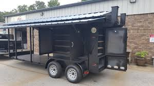ENCLOSED BBQ SMOKER Grill Trailer Roof Food Truck Concession Mobile ...
