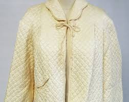 Chenille Bed Jacket by Vintage Bed Jacket Etsy