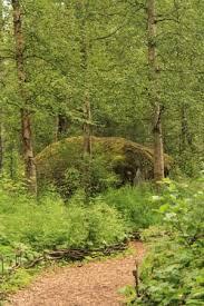large moss covered rock Picture of Alaska Botanical Garden