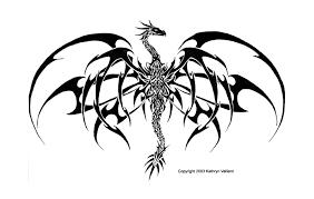 Tribal Gothic Dragon Tattoo Design