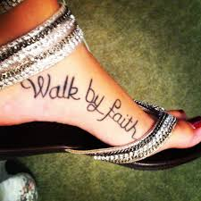 Bible Verse Tattoo On The Side Of Foot 2 Corinthians 57 I