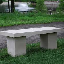 APO 4ft Modern Concrete Stone Bench With Square Legs